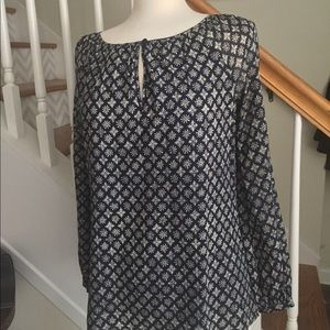 Tory Burch long sleeve blouse size 4